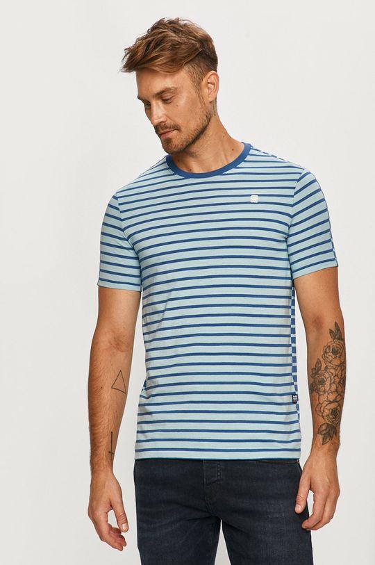 jasny niebieski G-Star Raw - T-shirt Męski