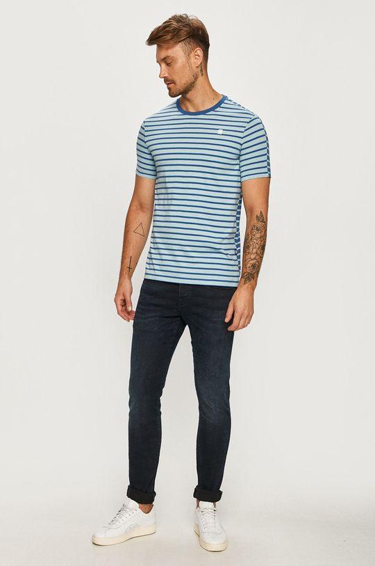 G-Star Raw - T-shirt jasny niebieski