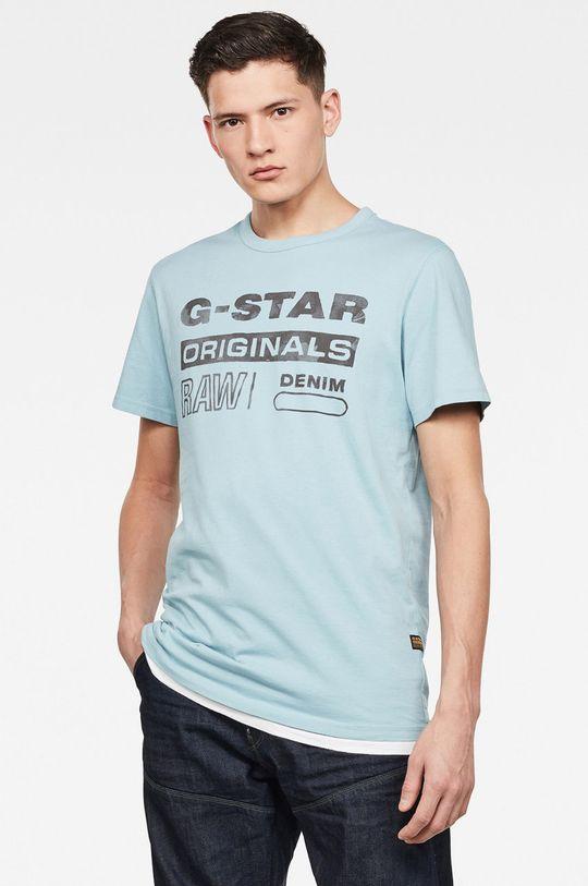 světle modrá G-Star Raw - Tričko Pánský