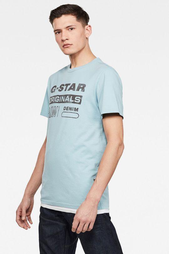 G-Star Raw - Tričko světle modrá