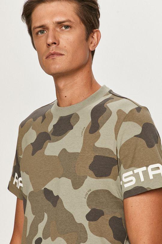 khaki G-Star Raw - Tričko