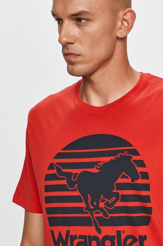 czerwony Wrangler - T-shirt
