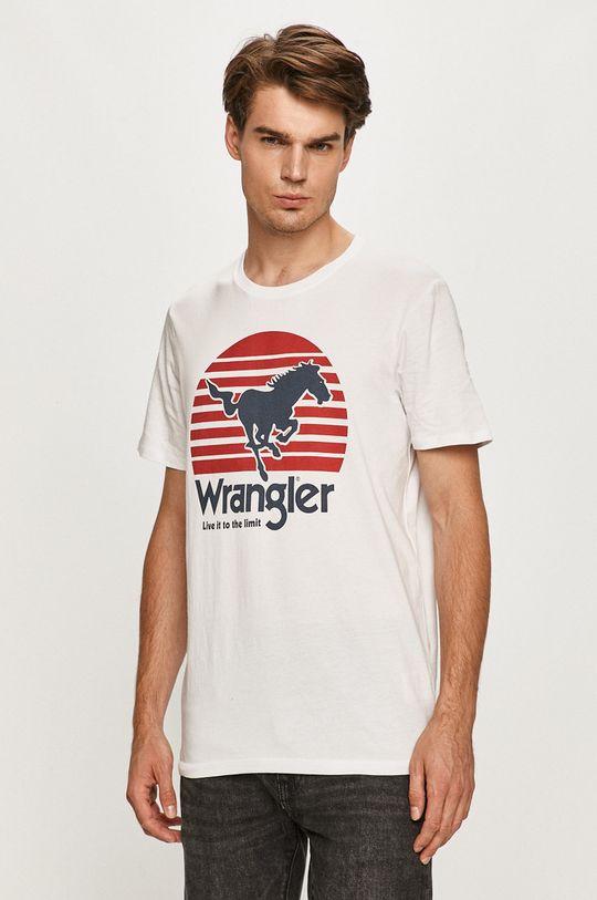 biela Wrangler - Tričko Pánsky