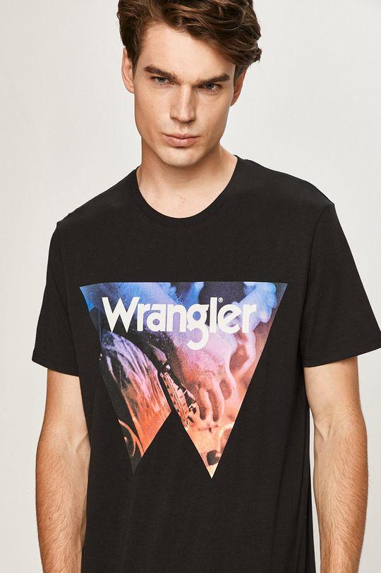 čierna Wrangler - Tričko Pánsky