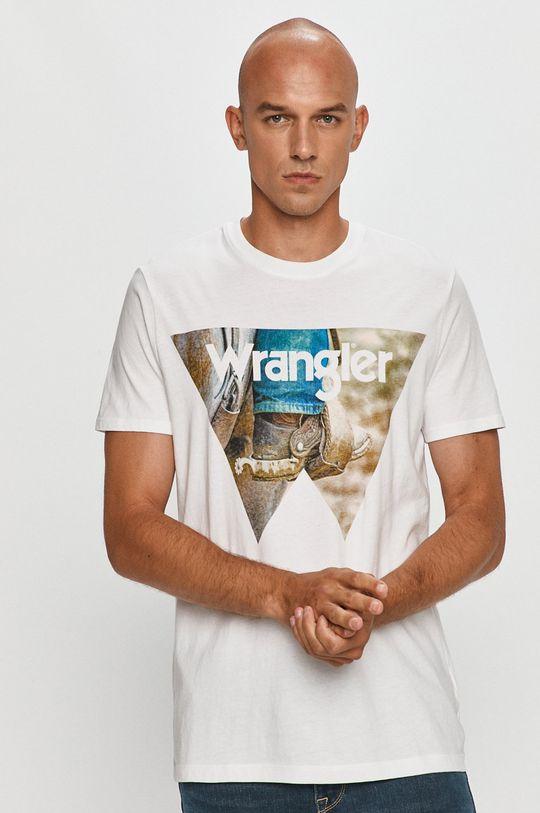 alb Wrangler - Tricou De bărbați