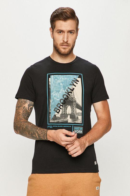 čierna Produkt by Jack & Jones - Tričko Pánsky