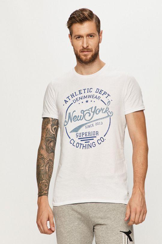 biela Produkt by Jack & Jones - Tričko Pánsky