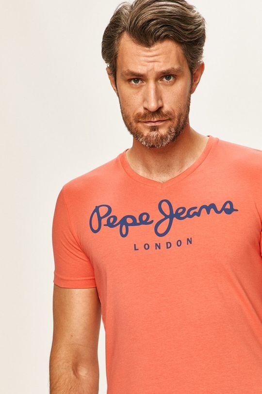 pastelová Pepe Jeans - Tričko Original Stretch Pánský