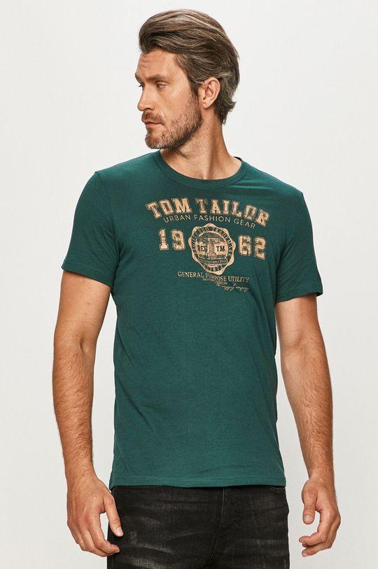 zelená Tom Tailor Denim - Tričko Pánsky