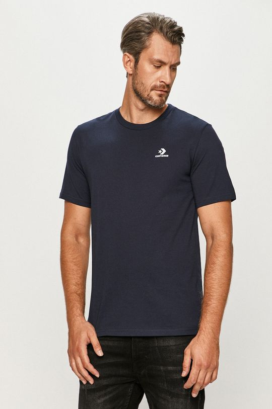 granatowy Converse - T-shirt Męski
