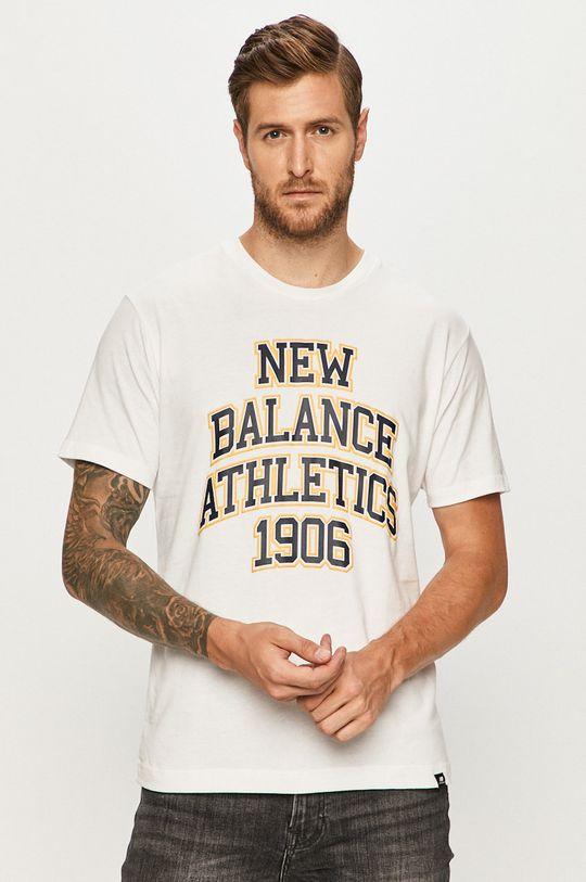 alb New Balance - Tricou De bărbați