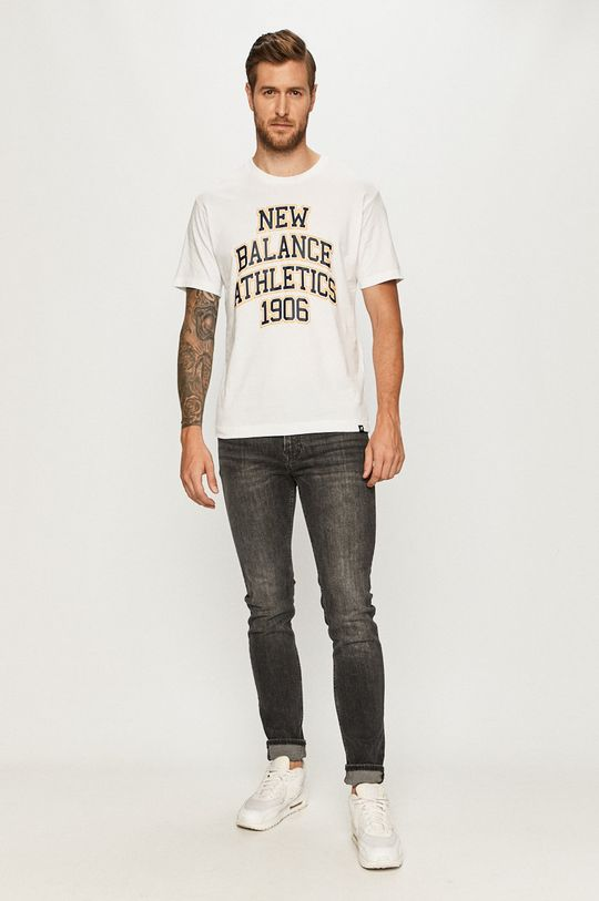 New Balance - Tricou alb