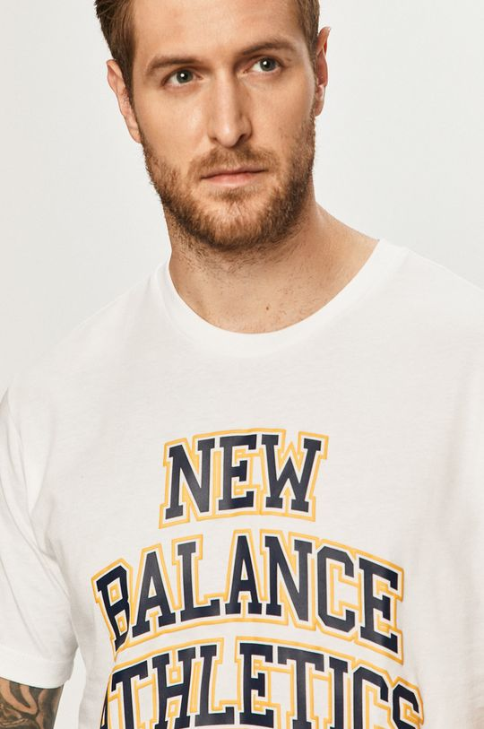 alb New Balance - Tricou
