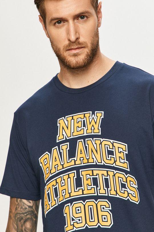 tmavomodrá New Balance - Tričko Pánsky