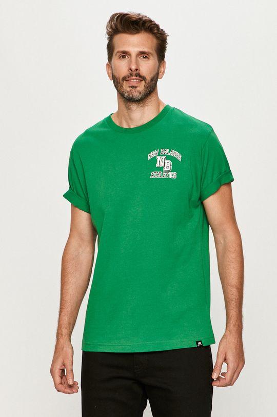 zelená New Balance - Tričko Pánsky
