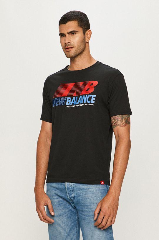 čierna New Balance - Tričko Pánsky