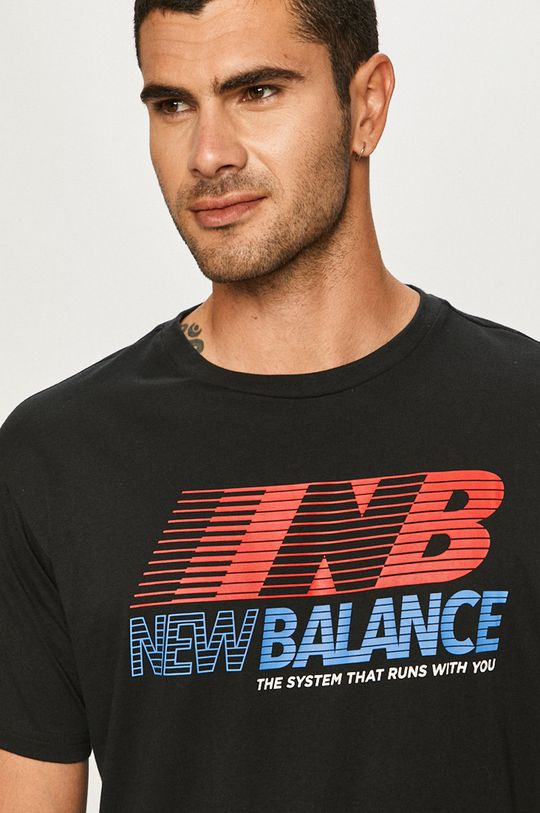 New Balance - Tričko čierna