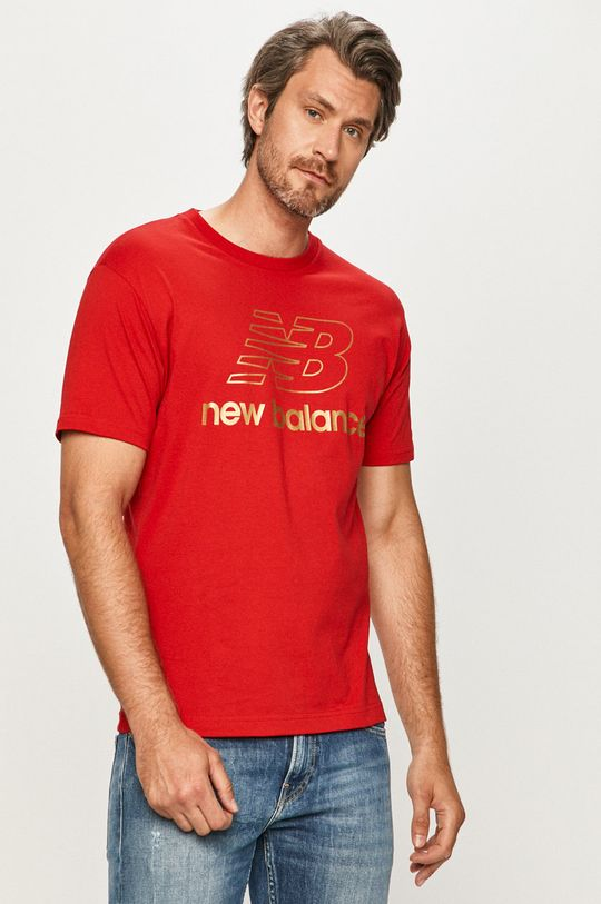 červená New Balance - Tričko Pánsky