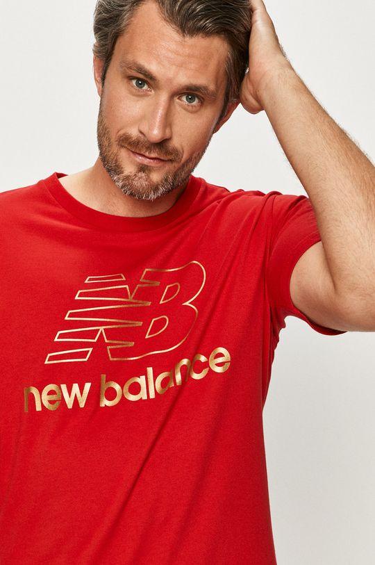 červená New Balance - Tričko