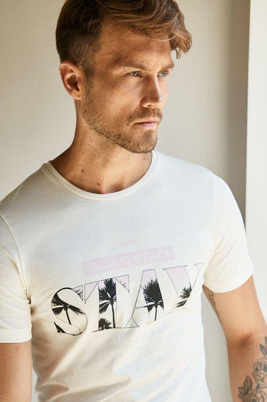 kremowy Jack & Jones - T-shirt