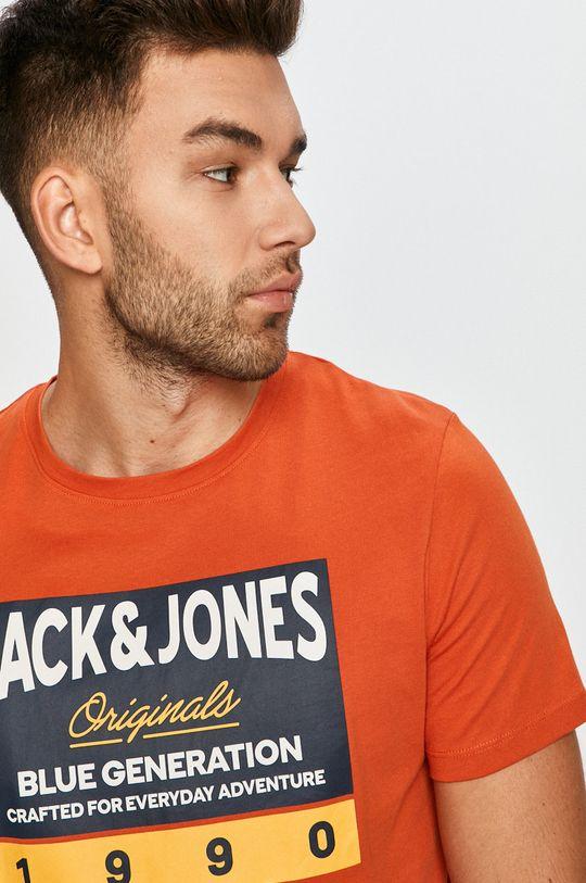miedziany Jack & Jones - T-shirt