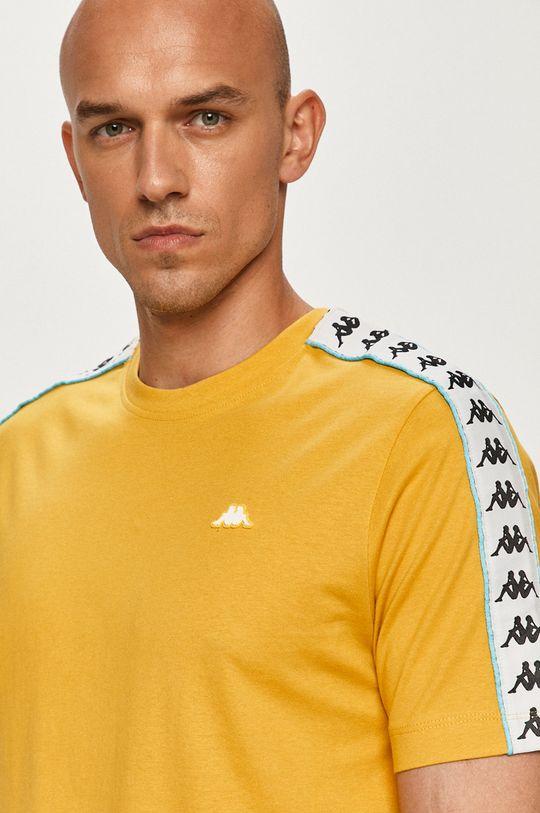 musztardowy Kappa - T-shirt Męski