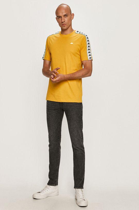 Kappa - T-shirt musztardowy