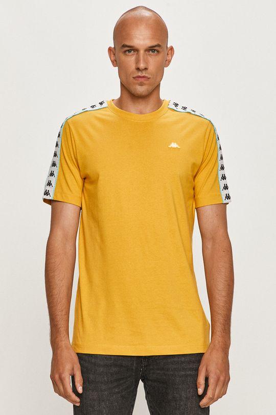 musztardowy Kappa - T-shirt