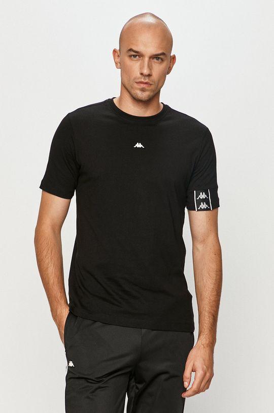czarny Kappa - T-shirt Męski