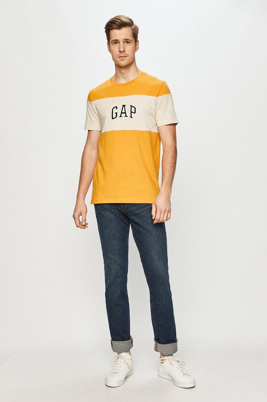 GAP - T-shirt żółty