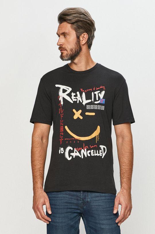 grafitová Jack & Jones - Tričko Pánský