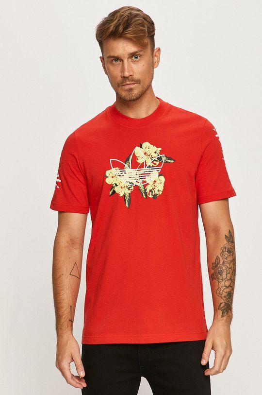 červená adidas Originals - Tričko Pánsky