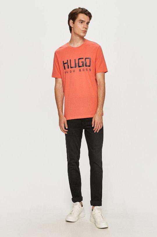 Hugo - Tricou piersic