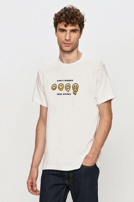 biały Brixton - T-shirt Męski