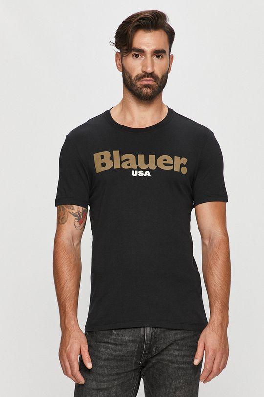 negru Blauer - Tricou De bărbați