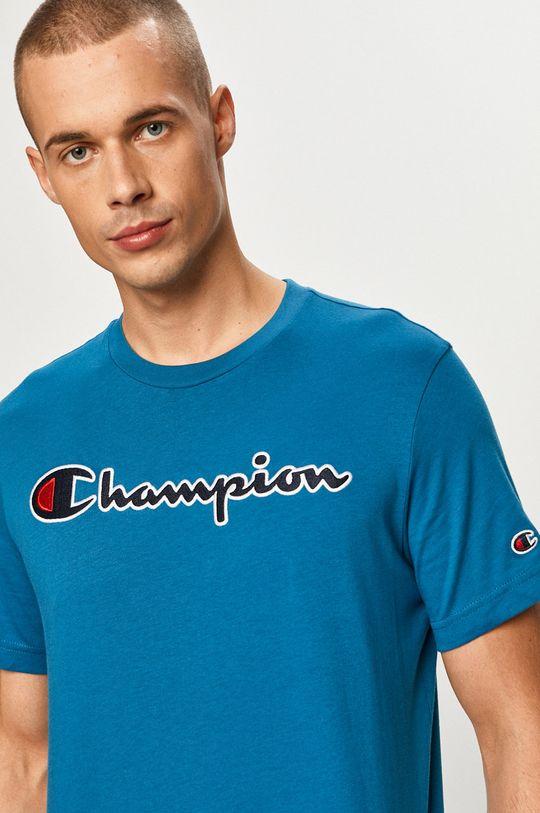 stalowy niebieski Champion - T-shirt Męski