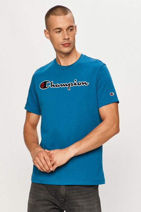 stalowy niebieski Champion - T-shirt