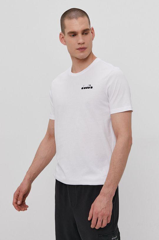 biały Diadora - T-shirt 176634 Męski