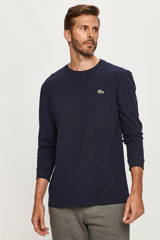 tmavomodrá Lacoste - Tričko s dlhým rukávom Pánsky