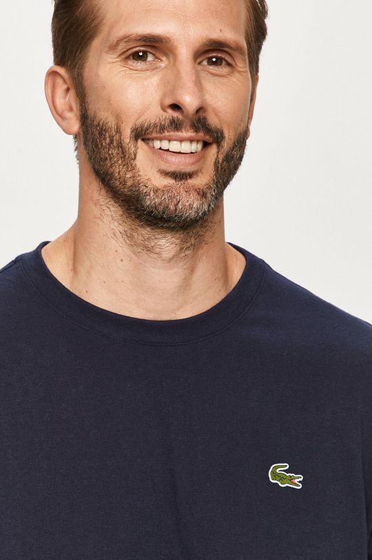 tmavomodrá Lacoste - Tričko s dlhým rukávom