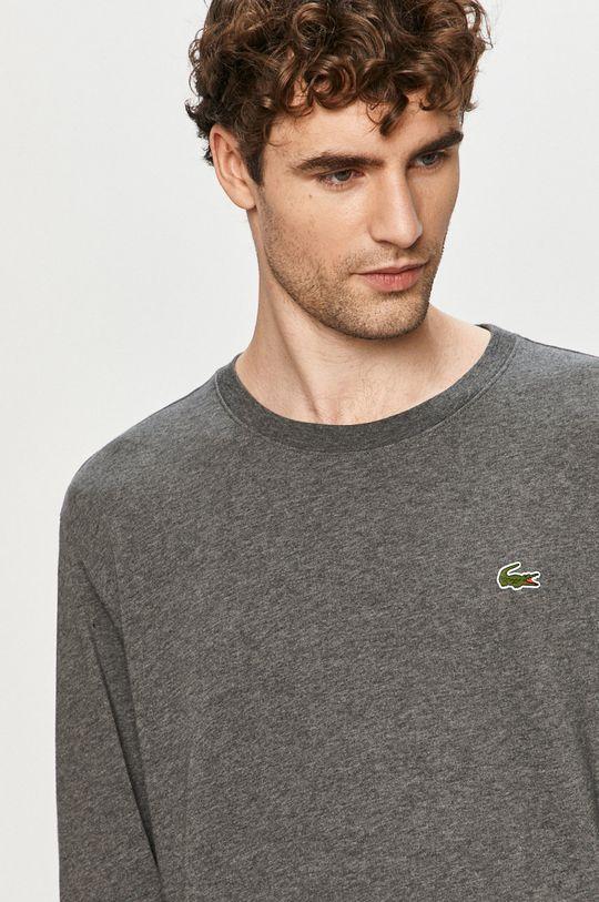 sivá Lacoste - Tričko s dlhým rukávom Pánsky