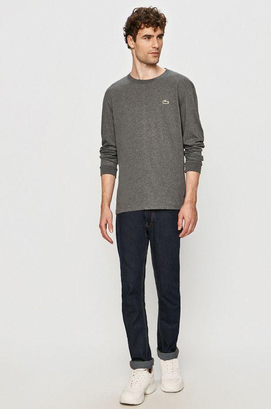 Lacoste - Tričko s dlhým rukávom sivá