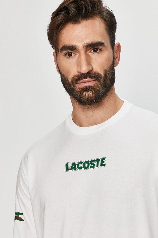 bílá Lacoste - Tričko s dlouhým rukávem