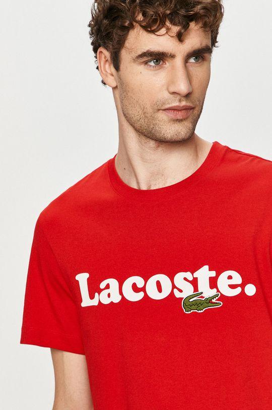czerwony Lacoste - T-shirt Męski