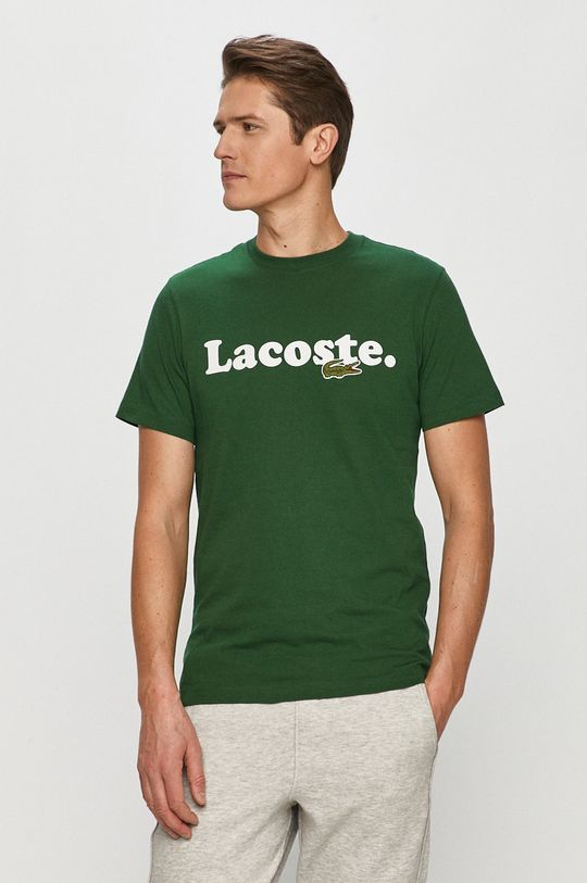 zielony Lacoste - T-shirt Męski