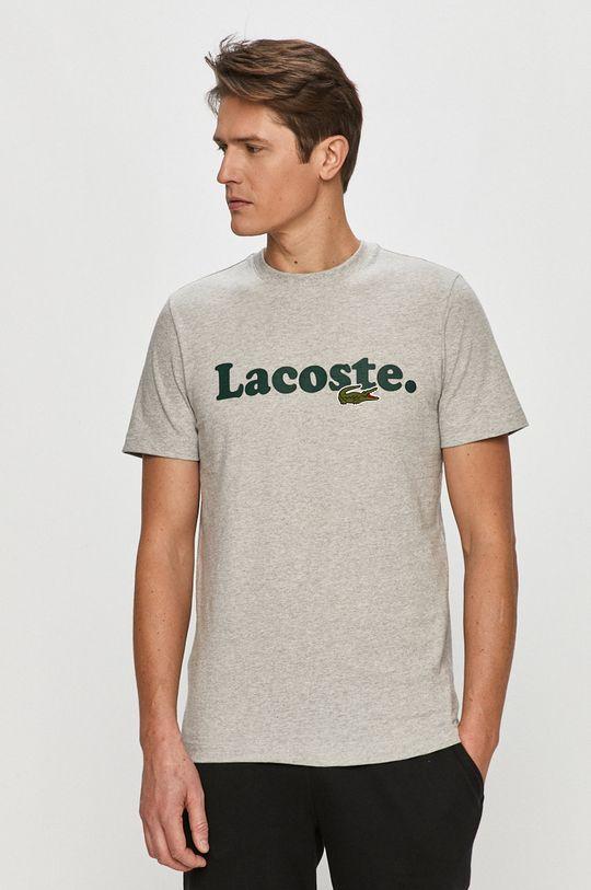 šedá Lacoste - Tričko Pánský