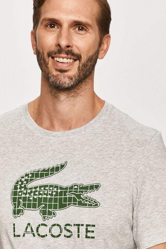 jasny szary Lacoste - T-shirt