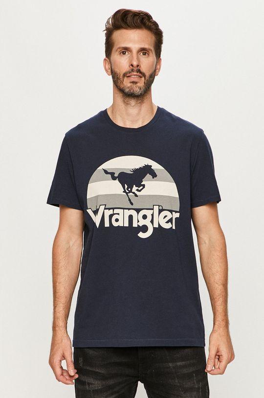 tmavomodrá Wrangler - Tričko Pánsky