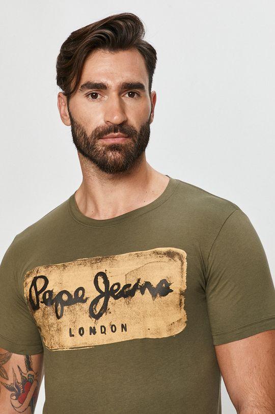 világos olíva Pepe Jeans - T-shirt Charing Férfi