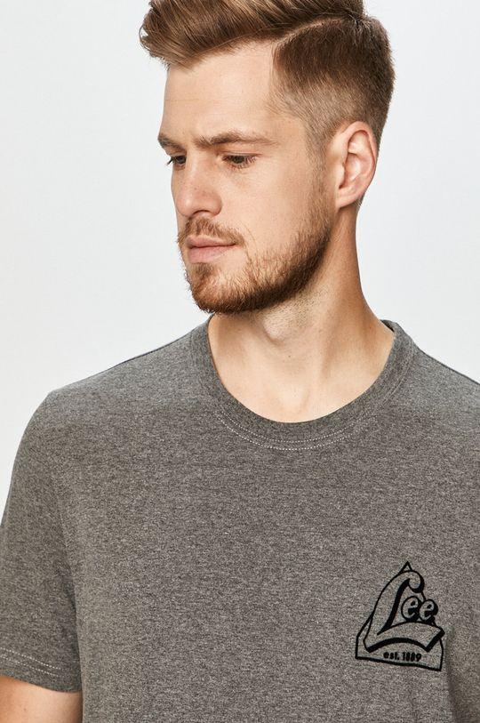 grafitowy Lee - T-shirt